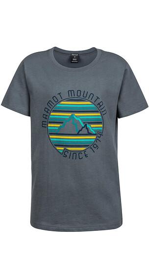 Marmot Boys Purview SS Tee Grey Storm
